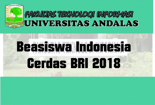 Beasiswa Indonesia Cerdas BRI 2018