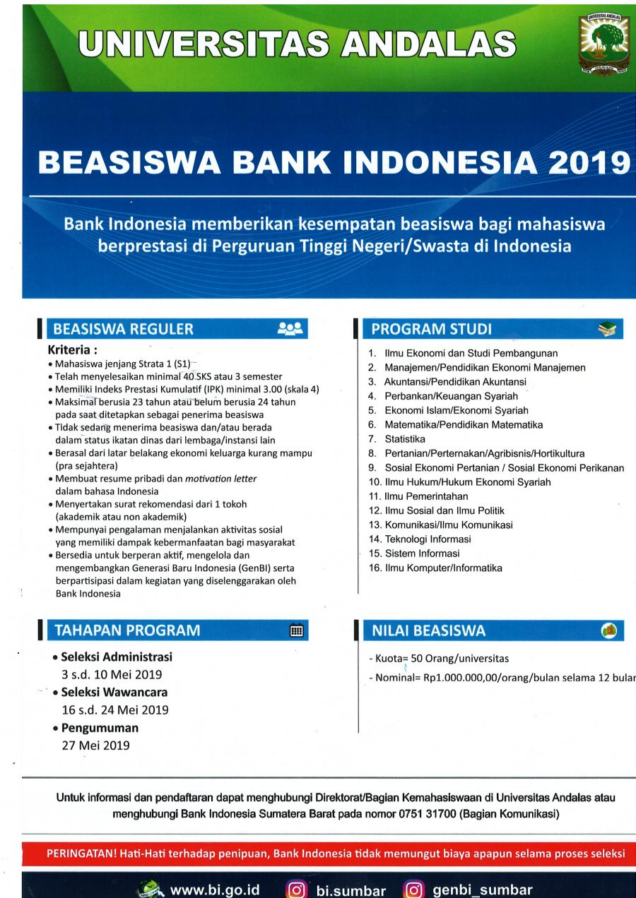 contoh resume beasiswa bank indonesia